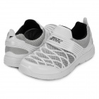Men's Fashion Mesh Velcro Sneakers Casual Shoes - White (Pair / Size 8)