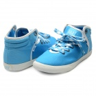 Fashion Lace-up Vulcanized Casual Shoes - Blue (Pair / Size 7)