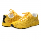 Women's Fashionable Lace-up Sports / Casual Shoes - Yellow + Black (Size 7 / Pair)
