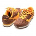 Fashionable Lace-up Sports / Running Shoes - Orange + Coffee (Size 6 / Pair)