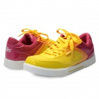 Women's Fashion Lace-up Sports / Running Shoes - Yellow + Purplish Red (Size 6 / Pair)