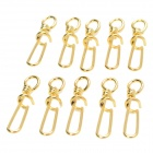 Stainless Steel Fishing Buckle Connector - Golden (10 PCS)