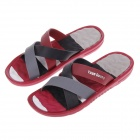 Men's Summer Fashion EVA Portable Home Casual Sandals - Red + Black + Gray (Size 10.5 / Pair)