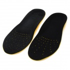 Breathable Mesh Elasticity Sports Insoles - Black + Yellow (Free Size / Pair)