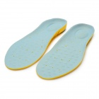 Double Color Classic EVA Massage Antiskid Insoles - Blue + Yellow (Free Size / Pair)