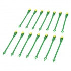 Fashion Creative Silicone Free Lacing Round Head Lazy Shoelaces - Green + Yellow (14 PCS)