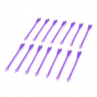 Fashion Creative Silicone Free Lacing Round Head Lazy Shoelaces - Purple + White (14 PCS)