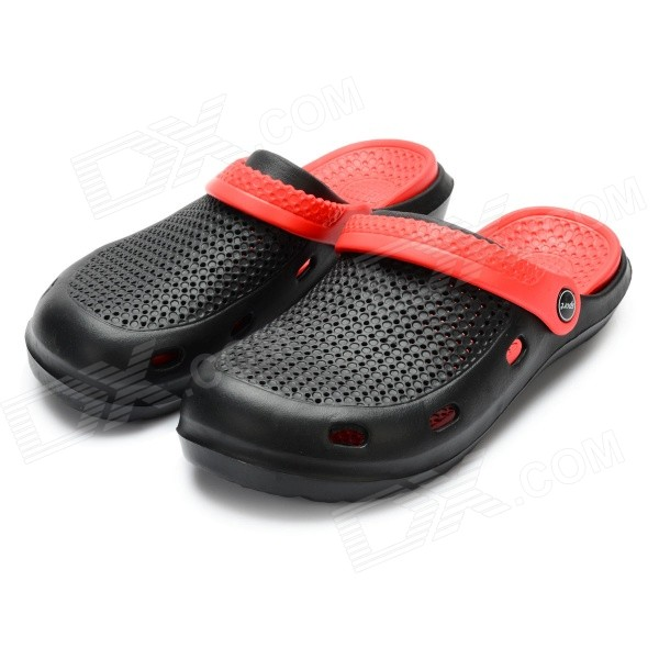 Men's Breathable Beach Garden Slip-on Casual Sandals - Red and Black (Size 7 / Pair) - Black Friday Seckill - Cell Phones and Accessories