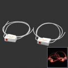 Creative Fashion LED Luminescence Shoelaces - White + Transparent (2 x CR2032)