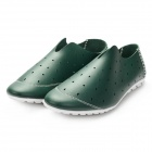 Men's Breathable Microfiber Leather Hollow Out Casual Shoes - Blackish Green (Size 9.5 / Pair)