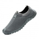 Men's Summer Breathable Mesh Slip-On Lazy Running Shoes - Dark Gray (Size 10 / Pair)