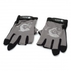 Multi-function Anti-skid Fishing Gloves - Gray + Black (Pair)
