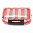 Double Side Transparent Flip Open Se al Waterproof Fishing Baits Box - Red