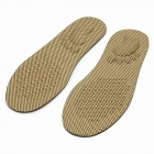 Durable Bacteriostasis Elastic Breathable Cool Health Care Insoles - Beige (Pair)