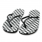 Men's Summer Fashion Antiskid Beach Flip Flops Casual Slippers - White + Black (Size 8 / Pair)