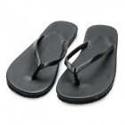 Men's Summer Fashion Antiskid Flat Heel Flip Flops Casual Slippers - Black (Size 9.5 / Pair)