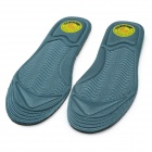 Durable Massage Absorbent Breathable Cool Health Care Insoles - Dark Green (Pair)
