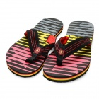 Men's Summer Fashion Breathable Beach Flip Flops Slippers - Black + Red + Yellow (Size 8 / Pair)
