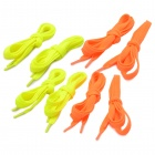 Fashion Fluorescent Color Canvas Shoeslaces - Fluorescent Yellow  + Fluorescent Orange (4 Pairs)
