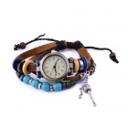 Fashion Retro Roman Scale Bracelet Watch - Brown