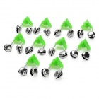 Fishing Rod Stainless Steel Alarm Bell - Silver + Green (10 PCS)