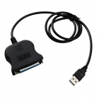 USB Male to DB25 Female Cable for Printer - Black (91cm)