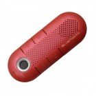 NAT1900 Car Bluetooth V3.0 Hands-free Speakerphone w/ MP3 Player for IPHONE / Samsung & More - Red