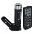 "Convida multifuncionais 3 ""Screen Bluetooth V2.0 Car FM Transmitter w / MP3 Player / Hands-free - Preto"