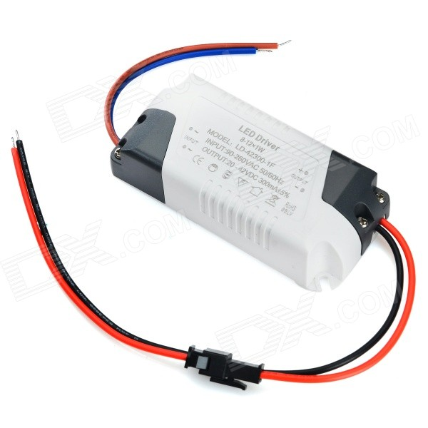 12 x 1W PWM LED Power Driver - White + Black (AC 90~260V)