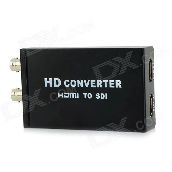2-CH HDMI to 2-CH SDI HD Video Converter - Black lkv364 sdi to bnc repeater 1080p 720p sd sdi hd sdi 3g sdi distribute to 2 simultaneous sdi outputs sdi converter splitter