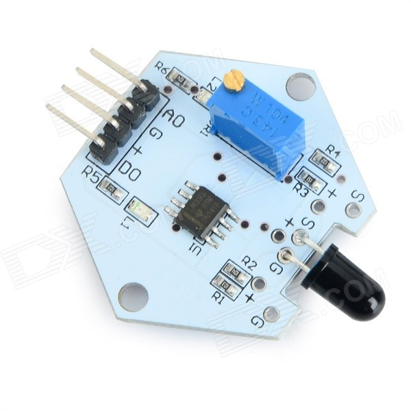 все цены на LDTR-0005 Flame Sensor Module for Arduino - Blue + Black (3.3~5V) онлайн