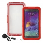 Saim Protective Plastic + Silicone Waterproof Shell Case for Samsung Galaxy Note2 / 3 / 4 - Red