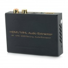 HDMI / MHL Audio Extractor / Splitter w/ SPDIF + R/L - Black + Golden