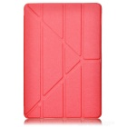 Multi-folding Protective PU Case w/ Stand / Auto-Sleep for IPAD AIR 2 - Red