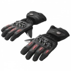 PRO-BIKER MTV-08 Motorcycle Thickened Warm Waterproof Racing Gloves - Black (Pair / Size M)
