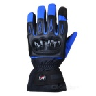 PRO-BIKER DXMS-09 Motorcycle Thickened Warm Waterproof Racing Gloves - Blue (Pair / Size XL)