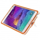 ENKAY Protective TPU Back Case Cover w/ Stand for Samsung Galaxy Note 4 N9100 - Orange + White