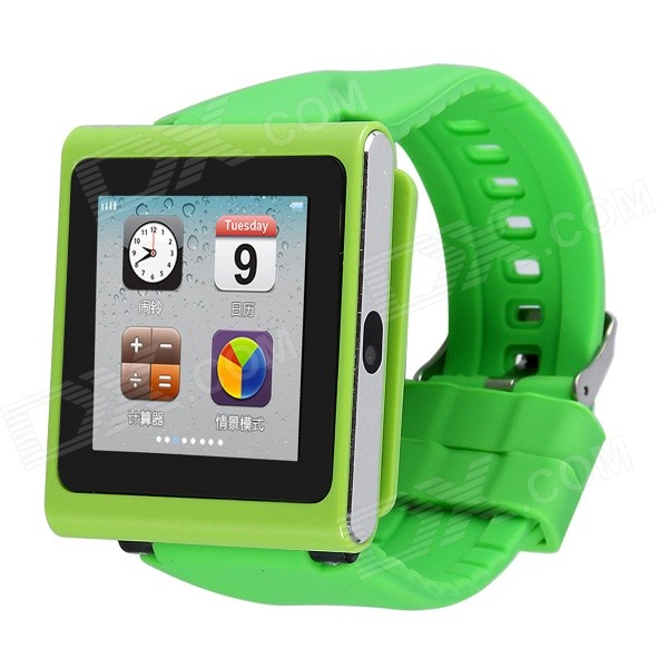 AOLUGUYA DQ-211 GSM Watch Phone w/ 2.0MP Camera, BT, Anti-lost, Alarm, Browser, R/C Shutter - Green