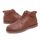 NT00022-12 Men's Fashion Casual Winter Warm Martin Boots - Brown (Pair / Size 39)
