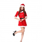Christmas Body-hugging Role-playing Temptation Lingerie Costume Dress - Red