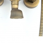 G9654 Retro Luxurious Telephone Style Bibcock Wall Shower Set - Antique Brass