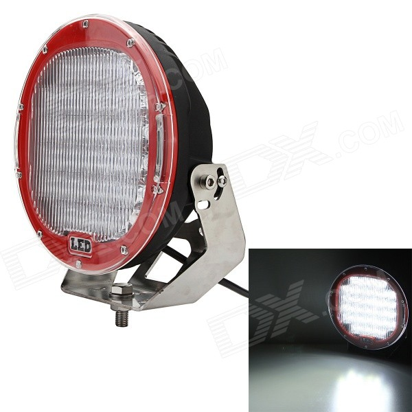 Mz round 96w 7680lm 32-led driving flood work light 4wd offroad lamp - red