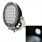 MZ Round 96W 7680LM 32-LED Driving Spot Work Light 4WD Offroad Lamp - Black