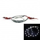 D&Z D&Z-FPCC30-W 1.8W 6000K 150lm 30-LED White Light Decorative Strip Lamp for Car (12~15V, 60cm)