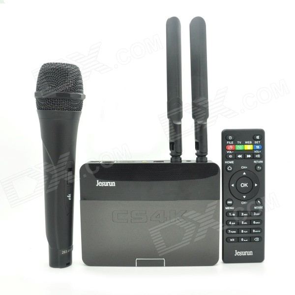 Jesurun CS4K Android 4.4.2 Quad-Core Google TV Player w/ 2GB RAM, 8GB ROM, 1080P, Wi-Fi, US Plug наушники sennheiser hd4 30i black