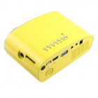 RD-802 24W LED HD Home Mini Projector w / HDMI / VGA / USB + Remote Control - Gul (US Plugger)