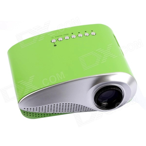 RD-802 24W LED HD Home Mini Projector w/ HDMI / VGA / USB + Remote Control - Green (EU Plug)