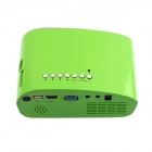 RD-802 24W LED HD Home Mini Projector w / HDMI / VGA / USB + afstandsbediening - Green (EU Plug)