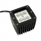 F018F 18W Type/F 1260lm 6000K Flood White 6-LED Square Work Light Bar for Car / Boat