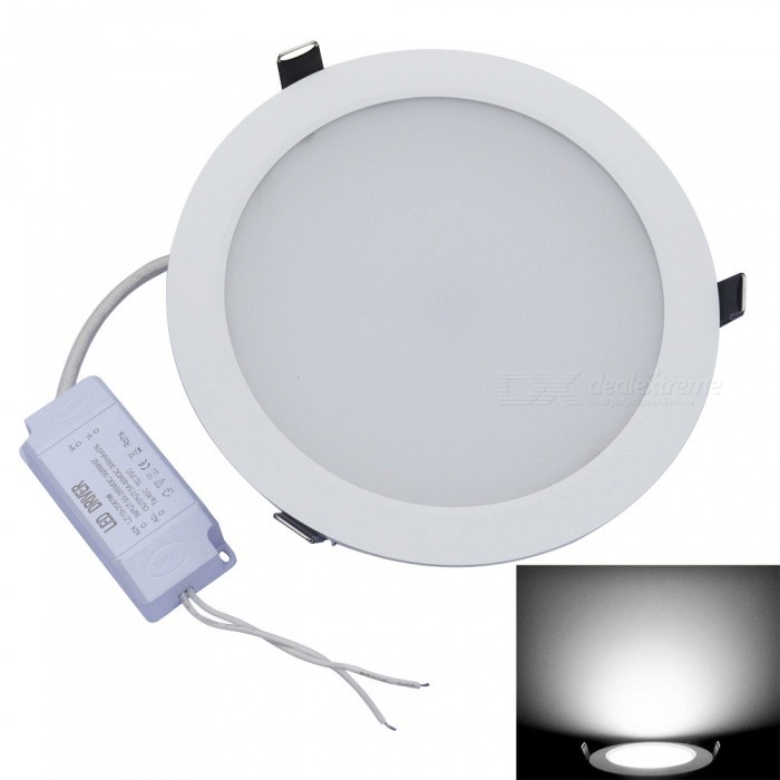 JIAWEN 24W 48-SMD 5630 2160lm White 6000K LED Ceiling Light w/ Driver (AC 100-240V) kinfire circular 6w 420lm 6500k 30 x smd 3528 led white light ceiling lamp w driver ac 85 265v